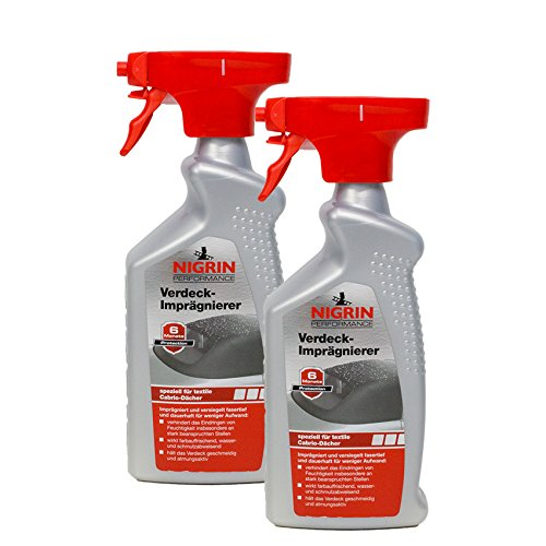 Nigrin 2X 74183 Performance Verdeck-Imprägnierer 500 ml