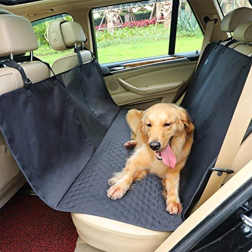 Petsfit Hunde Autoschondecke Hundedecke Rücksitz für Auto Rückbank und Kofferraum mit Wasserdicht Infiltrationsschutz,Kratzfest und rutschfest mit Sichtfenster für Autos Trucks Van SUV