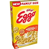 Kellogg's Eggo, Breakfast Cereal, Maple Flavored Homestyle Waffle, Good Source of 8 Vitamins and Minerals, Family Size, 14.1oz Box