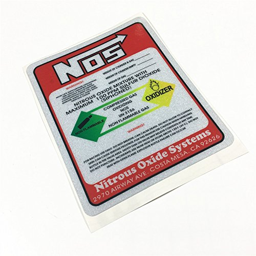 Car Sticker Motorcycle Oil Tank Decals Vinyl Reflective for NOS Tuning Racing Nitrous Oxide Racing 12x9.6cm