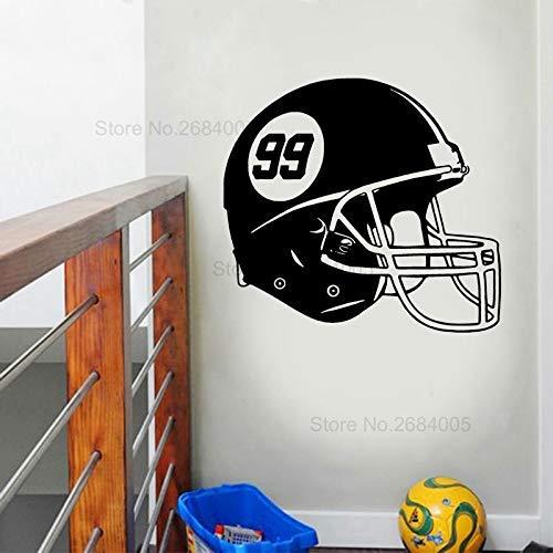 Football Helm Wandtattoo Vinyl Aufkleber Kinderzimmer Schlafzimmer Haus Dekoration Tapete69X63Cm