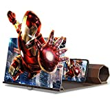 TUIREL 12inch Screen Magnifier for Smartphone Ultra-Clear Roll Folding Mobile Phone Screen HD Stand Movie Amplifying Projector for Movies,Videos and Gaming