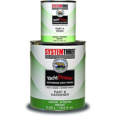 System Three 1710K24 Silvertip Yacht Adhesive Primer Kit, 1 Gallon, Light Gray from System Three Resins, Inc.