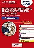 Concours Rédacteur territorial et Rédacteur principal de 2e classe - Catégorie B - Tout-en-un - Fil d'actu offert - Externe, interne, 3e voie - Concours 2021 (2020)