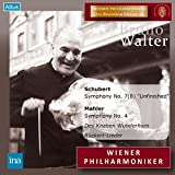 ウィーン・フィル / マーラー生誕百年記念祭 ~ シューベルト : 交響曲 第8番 「未完成」 | マーラー : 交響曲 第4番 他 (Schubert : Symphony No.7(8) ''Unfinished'' | Mahler : Symphony No.4, Des Knaben Wunderhorn, Ruckert-Lieder / Bruno Walter, Wiener Philharmoniker) (2CD) - ブルーノ・ワルター, ウィーン・フィルハーモニー管弦楽団, エリーザベト・シュヴァルツコップ, シューベルト, マーラー, ブルーノ・ワルター, ウィーン・フィルハーモニー管弦楽団