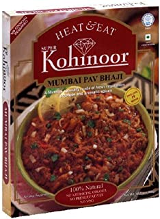 Kohinoor Heat & Eat Curries, Mumbai Pav Bhaji, 10.5-ounce Boxes (Pack of 2)