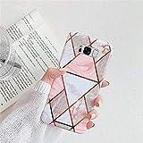 Kompatibel mit Samsung Galaxy S8 Hülle,Handyhülle Galaxy S8 Hülle Rosa Marmor Muster Superdünn TPU Silikon Hülle Schutzhülle Weiche Crystal Clear Silikon Bumper Rückschale Hülle Cover,Design D