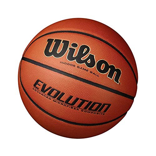 "Wilson Evolution Game Basketball, Black, Official Size - 29.5"" - 5 Pack California"