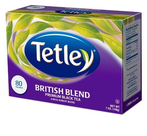 Tetley British Blend Premium Black, 80-Count Tea Bags (Pack of 6)