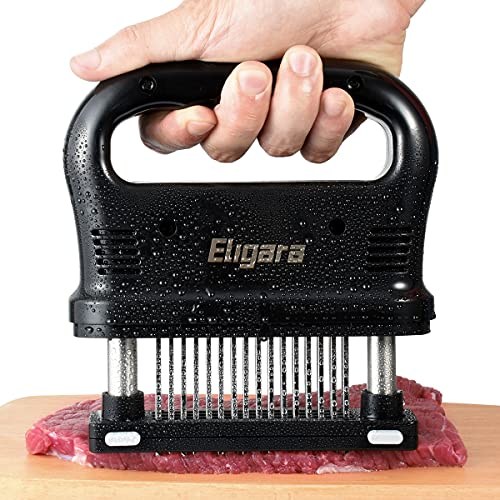 Eligara Meat Tenderizer with 48 Stainless Steel Needle Blade Steak Tenderizer with ABS Safe Plastic, Lightweight & Durable Kitchen Cooking Tool (Classic)