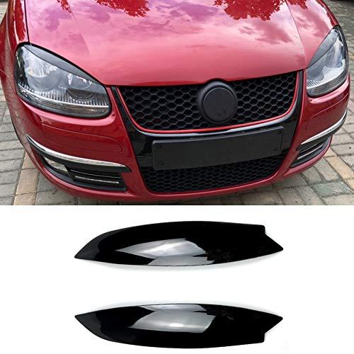 Autolichtzubehör Carbon-Faser-Muster-Scheinwerfer Eyelids Trim, Scheinwerfer Augenbrauen Abdeckung Dekoration Styling-Aufkleber for Volkswagen Golf 5 (Color : Color2)