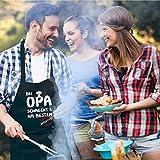 Kochschürze, Grillschürze - Bei Opa schmeckt's am besten - Geschenk für Opa - 7