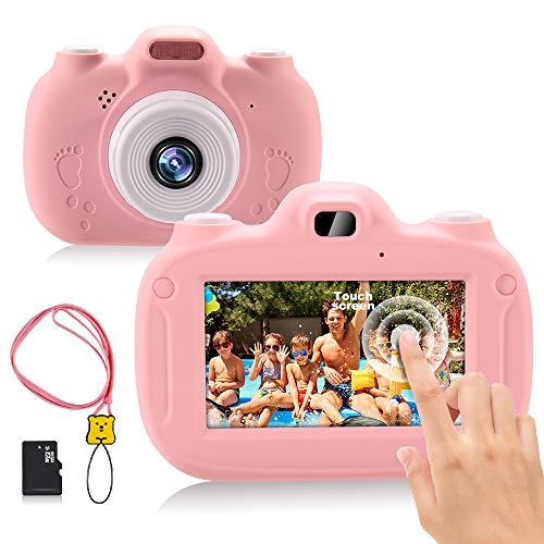 RAYROW Appareil Photo pour Enfants, Soutien WiFi et 3,0 Pouces HD écran Tactile,1080P Mini Caméra Numérique avec Jeux, Jouet Cadeau d anniversaire de Noël pour Les Enfants de 3 à 12 Ans (Rose)