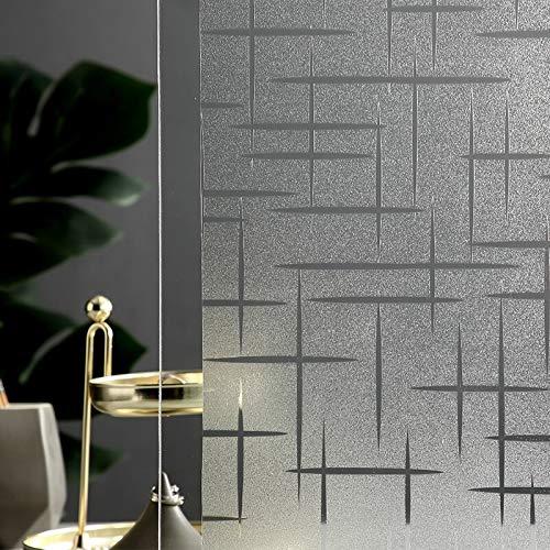 LMKJ Opaque privacy static voltage composite glass film, star pattern window covering, light-shielding film glass sticker A78 30x200cm