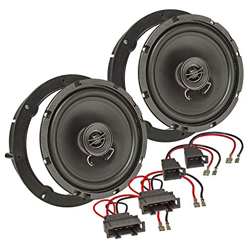 tomzz Audio 4049-000 - Kit de montaje de altavoces para Seat Altea MII, Ateca Toledo Ibiza (sistema coaxial de 165 mm, TA16.5 Pro)