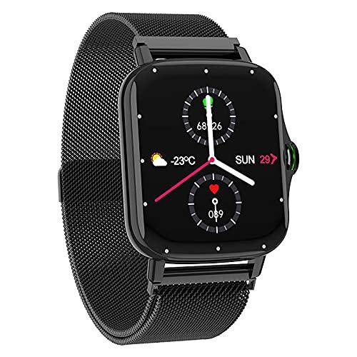 ZGZYL FM08 Hombre Smart Watch Bluetooth Call Music Watch, Reloj De Fitness con Sangre Oxygen/Monitor De Frecuencia Cardíaca, Adecuado para Mujeres Inteligentes De iOS Android,D