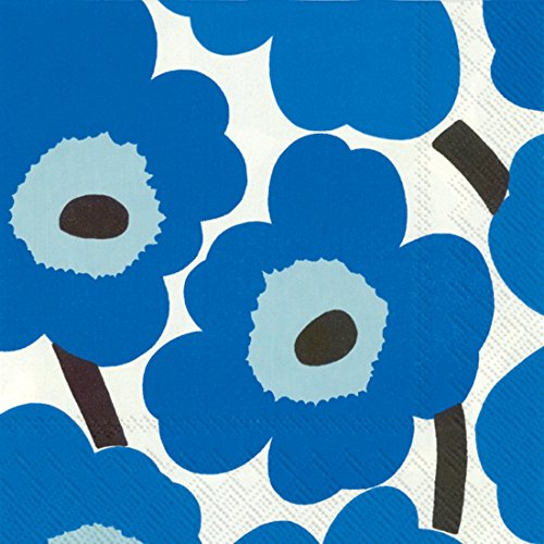 Ideal Home Range Marimekko Unikko tovaglioli, Carta, Blue, Lunch