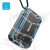 DEEPOW Enceinte Bluetooth Waterproof, Haut Parleur Bluetooth Portable avec FM Radio...