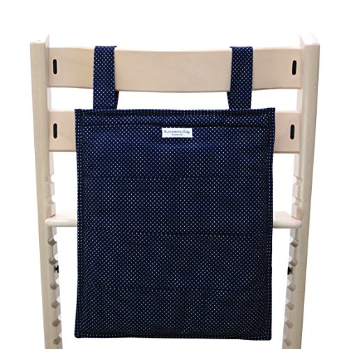 Blausberg Baby - Utensilo pour Stokke Tripp Trapp chaise haute - bleu petits pois