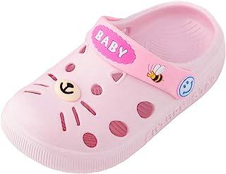 Baby Home Slippers,MS-SM Child Toddler Infant Kids Girl Boys Summer Fashion PVC Indoor Bathroom Bath Cartoon Cat Non-Slip ...