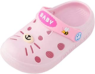 Ywoow Toddler Infant Baby Kids Girl Boys Home Slippers Cartoon Cat Floor Shoes Sandals