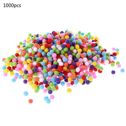 cuigu 1000pcs/set Mini pompones mezcla color bola, bolas de fieltro Pastel Redondas de 10mm hecho a mano