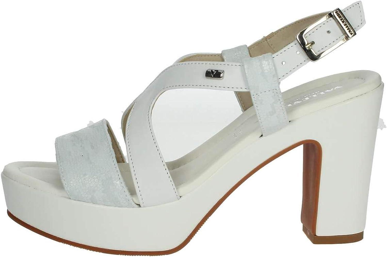 Vallegreen 32514 Sandal Heel shoes Women White Made in