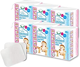 Destalya Baby Cotton Pads Natural Disposable Cleansing Wipes for Sensitive Skin - Soft &Gentle Washcloths for Diaper Change, Makeup Removal, & Personal Care (Maxi Cotton Pads 360 count)