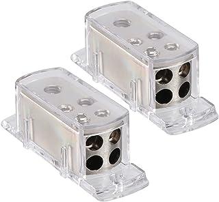 VICASKY 2Pcs 4- Way Divisor de Potência Do Amplificador De Áudio Do Carro Cabo de Aterramento Bloco de Distribuição