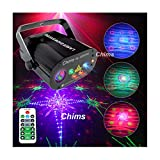 Chims DJ Party Laser Lights Red Green Blue 128 Patterns RGB Colorful LED Ripple Wave Lighting for Birthday Party DJ Stage Disco Music Festival Gift Club Christmas Xmas Party (RGB 128 Patterns)
