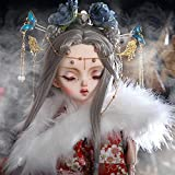 Lifelike BJD Muñeca SD Doll 58,7cm 1/3 Ball Jointed Doll Moda Vestirse Muñeca con Hecho a Mano Japonés Kimono Establecer + Peluca + Maquillaje + Accesorios