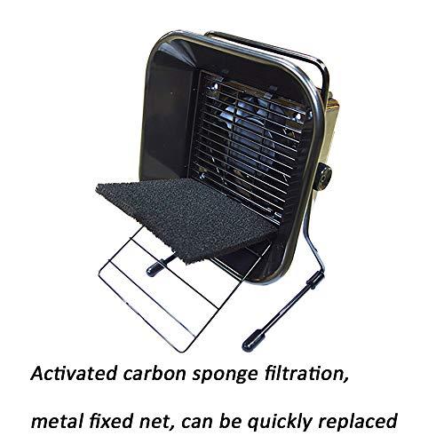 CNRGHS zweetroker, soldeerbout lassen roken instrument, hoge prestaties 60 W met filter rookapparaat, soldeerbout afzuigkap met afdekking aan de achterkant, met filterspons