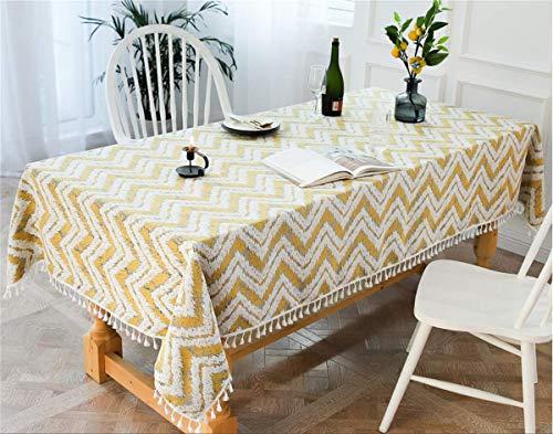 YOUZI tovaglia Rettangolare, tovaglia Gialla Misura 140 × 240 cm Cucina Tavolo da Pranzo da Giardino Lavabile Impermeabile