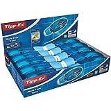 BIC Tipp-Ex 8706142 Korrekturroller Micro Tape Twist, 10 Korrekturmäuse in Blau, Korrekturband à 8 m x 5 mm