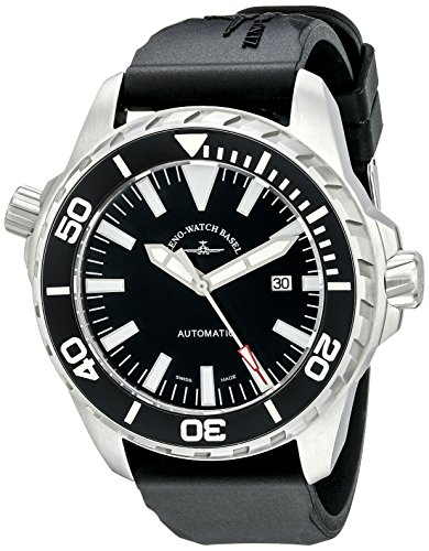 Zeno Divers Men's 48mm Automatic Black Rubber Sapphire Glass Watch...