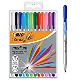 BIC Instruments Ecriture Intensity Stylos Feutres Pointe Moyenne (0,8 mm) - Couleurs Assorties, Pochette de 12
