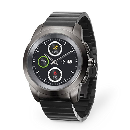 MyKronoz ZeTime Elite hybride Smartwatch, Regular - 44mm, Brushed Titanium / Modern Link