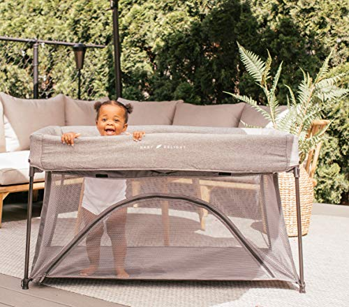 Baby Delight Go With Me Nod Deluxe Portable Crib amp Playard Charcoal Tweed