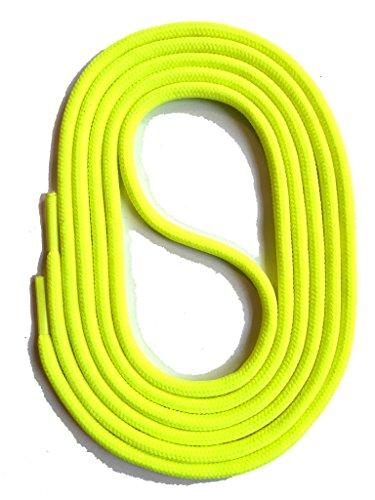 SNORS Schnürsenkel NEON GELB RUND 3mm, 130cm reißfest, Made in Germany Rundsenkel aus Polyester für Sportschuhe Sneaker Turnschuhe Laufschuhe und Stiefeletten