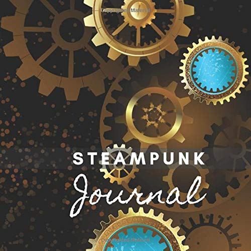 Steampunk Journal: Lined Undated Square Journal | Steam Punk Art Inside