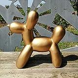 WQQLQX Statue Ballon Hund Skulptur Harz Handwerk Tier Statue Geschenk Mode Nette Kreative Dekoration Dekoration Dekoration Party Candy Desktop Ornament Figuren Skulpturen (Color : Gold)