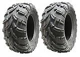 Jeu de 2 pneus Quad 25X10-12 6ply pneus ATV 7psi 25 10.00 12 set E route marquée...