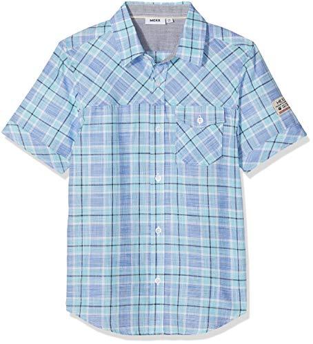 Mexx Jungen Hemd, Mehrfarbig (Navy/Blue Checked 318175), (Herstellergröße: 128)