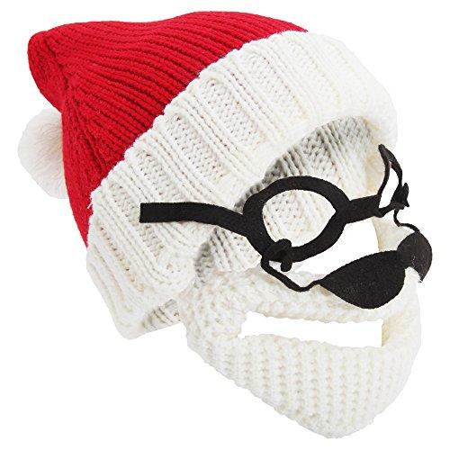 Textiles Universels Chapeau Style Père Noël - Homme (Taille Unique) (Rouge/Crème)