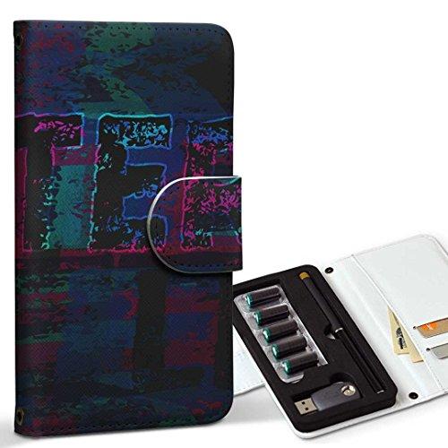 スマコレ ploom TECH プルームテック 専用 レザーケース 手帳型 タバコ ケース カバー 合皮 ケース カバー 収納 プルームケース デザイン 革 英語 文字 かっこいい 012182