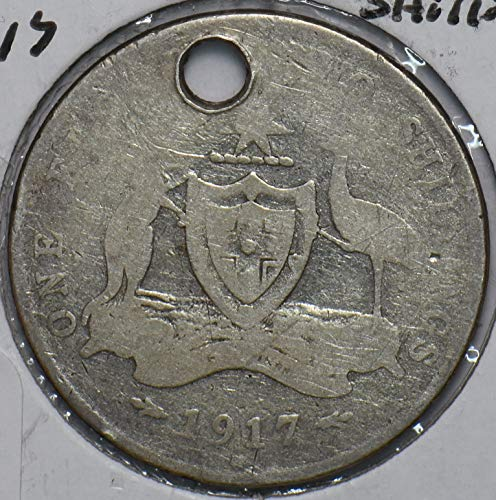 1917 AU Australia 1917 Shilling Kangaroo animal Emu 902597 DE...