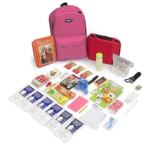 Keep-Me-Safe Children's Deluxe 72-Hr Emergency Survival Kit, Pink
