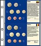 Prophila Collection 6 Stück Euro-Vordruck-Tabletts Von 5 Ländern (Litauen, San Marino, Monaco, Vatikan, Andorra) und 1 Blanko-Tablett