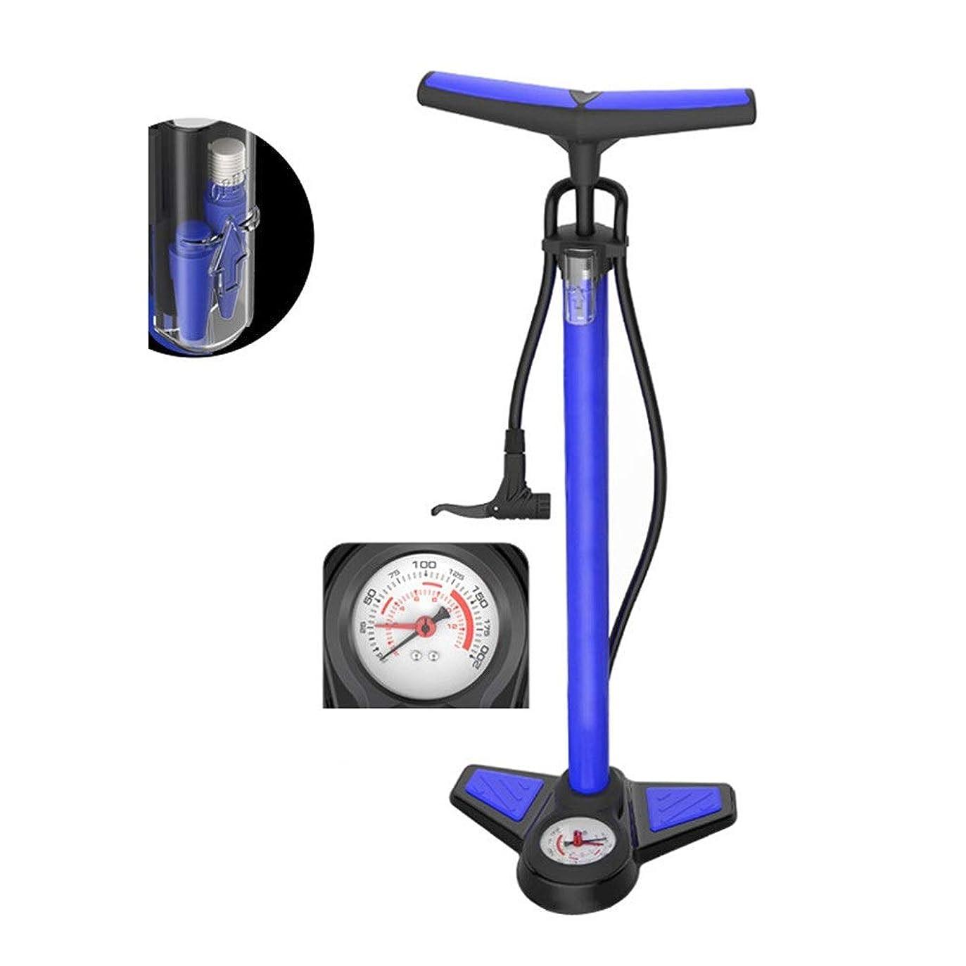 無数のまたはどちらかアーサー自転車 空気入れ 自転車ポンプ 空気圧計が付いている高圧床の永続的なバイクポンプ周期の自転車のタイヤ手ポンプゲージが付いている床ドライブ (色 : 青, サイズ : 65cm)