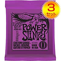 【3セット】ERNIE BALL/アーニーボール 2220[11-48] POWER SLINKY エレキギター弦
